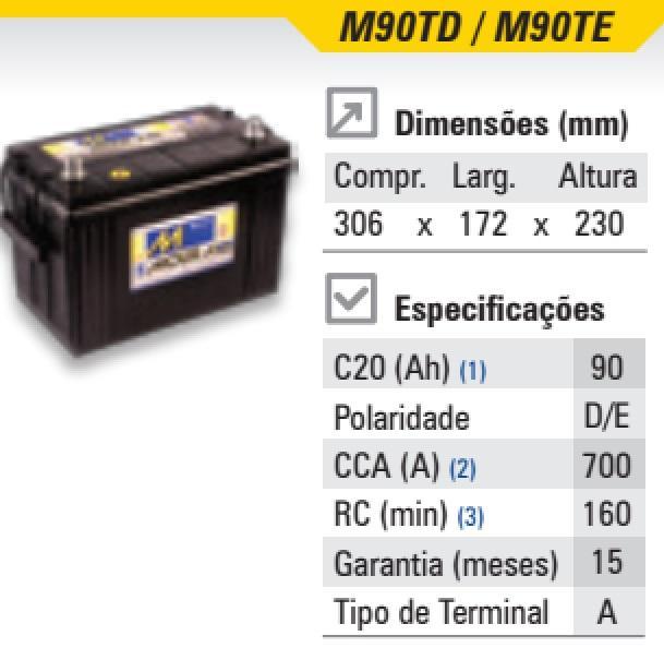 Bateria Moura 90ah